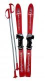 Dětské lyže Plastkon Baby Ski s vázáním - červené 90cm
