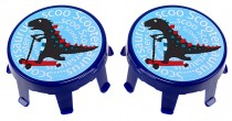 Poklice na kolečka Micro 2ks - Scootersaurus