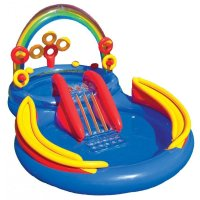 Nafukovací bazén INTEX 57453 Rainbow Ring Play Center 297x193x135 cm