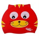 Plavecká silikonová čepice ve tvaru kočky