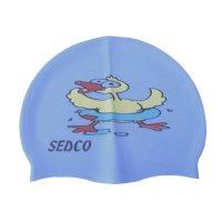 Plavecká koupací čepice Sedco silicon - modrá