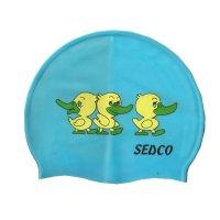 Plavecká koupací čepice Sedco silicon - světle modrá