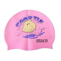 Plavecká koupací čepice Sedco silicon - růžová