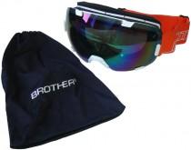 Lyžařské brýle s velkým zorníkem Brother bílé