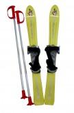 Dětské lyže Plastkon Baby Ski s vázáním - žluté 70cm
