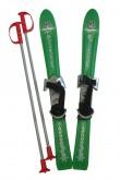 Dětské lyže Plastkon Baby Ski s vázáním - zelené 70cm