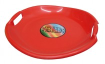 Sáňkovací talíř Acra Tornádo - červený