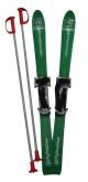 Dětské lyže Plastkon Baby Ski s vázáním - zelené 90cm