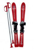 Dětské lyže Plastkon Baby Ski s vázáním - červené 70cm