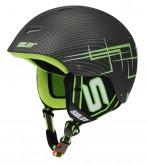 Lyžařská a snowboardová helma Sulov Wild, carbon-zelená