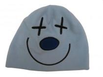 Fleecová zimní čepice modrá - křížky