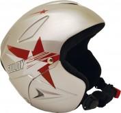 Lyžařská přilba Sulov Ranger - stříbrná lesk - hvězdy