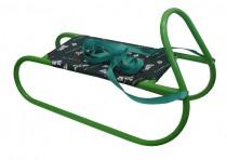 Dětské kovové sáně Acra A2046 zelené