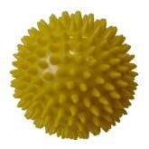 Masážní míček Acra průměr 7,5cm žlutá