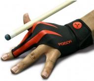 Kulečníková rukavice Poison 3-prstá černá/červená