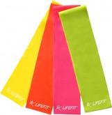 Posilovací guma Lifefit Flexband růžová - lehká
