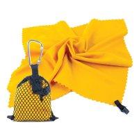 Rychleschnoucí ručník Nemo 40x40cm žlutý s karabinou