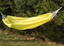 Houpací síť 240x145cm žlutá