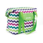 Plážová termo taška San Remo zigzag zelená