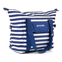 Plážová termo taška Spokey San Remo pruhy námořnická modrá