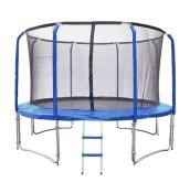 Trampolína Lux Set 305 cm + síť a žebřík - modrá