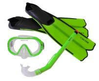 Potápěčský set Calter Kids S06+M168+F41 PVC zelený