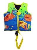 Dětská neoprenová plavecká vesta Pirates žlutá 18-30 kg