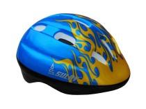 Dětská cyklo helma SULOV JUNIOR, modrá s plameny