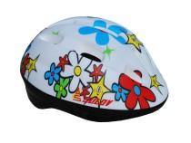 Dětská cyklo helma SULOV JUNIOR, bílá s květy