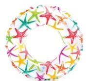 Plavecký kruh Intex potisk 61cm HVĚZDICE