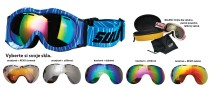 Dětské sjezdové brýle Sulov Monty dvojsklo modré