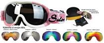 Sjezdové brýle Sulov Passo dvojsklo bílo-červené