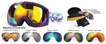 Lyžařské brýle Sulov Hornet dvojsklo fialové