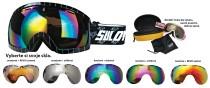 Lyžařské brýle Sulov Hornet dvojsklo černé