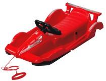 Bob plastový AlpenRace s volantem červený