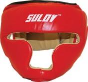 Box chránič hlavy uzavřený Sulov kožený - červený