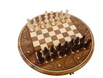 Šachy dřevěné kulaté