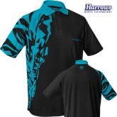Košile Harrows Rapide - Black & Aqua Blue