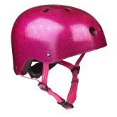 Přilba Micro Pink Glitter M (53-57 cm)