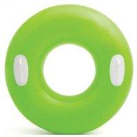 Kruh plavací Intex 59258 s držadlem 76cm zelená
