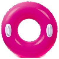 Kruh plavací Intex s držadlem 76cm růžová