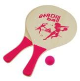 Plážový tenis set růžový