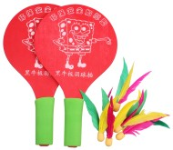 Dřevěné pálky Battledore na badminton
