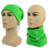 Multifunkční šátek 2v1 Fleece zelený