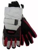 Pánské lyžařské rukavice Mess GS438 šedo-červené