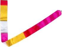 Gymnastická stuha Official Fantasia 6m bílo-růžovo-žlutá