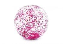 Nafukovací plážový míč INTEX 58070RU Glitter Transp. růžový 71cm