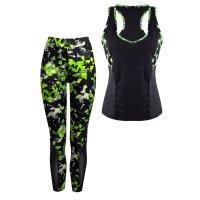 Dámský fitness set - sportovní top a legíny YG03 Neongrün
