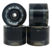 Kolečka Penny board Sulov Black Transparent 60x45mm, 4ks