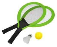 Set na plážové hry tenis/badminton zelená